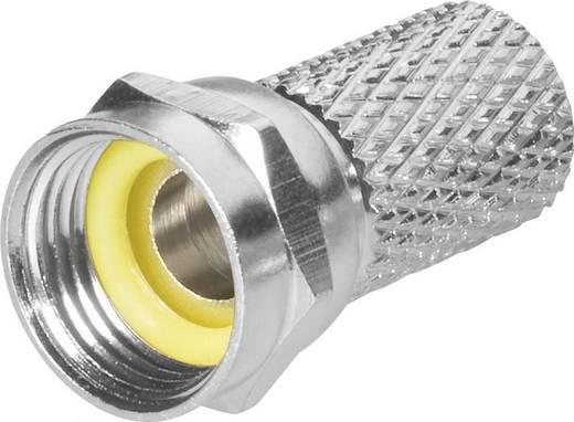 BKL Electronic 0403018/GE F-stekker met draaiaansluiting Stekkerverbinder Kabeldiameter: 6.8 mm