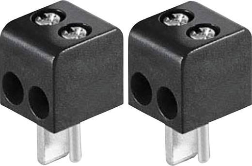 BKL Electronic 0205018 Luidsprekerconnector Stekker, recht Aantal polen: 2 Zwart 2 stuks