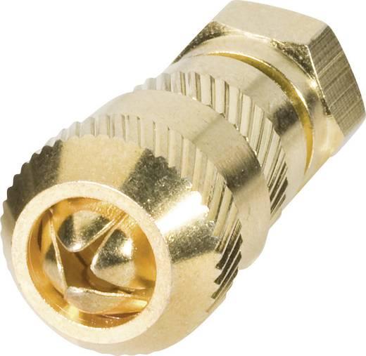 F-stekker Kabeltype: Voor coax tot Ø 7 mm