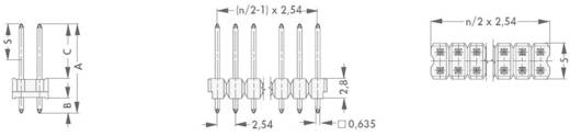 Male header (standaard) Aantal rijen: 2 Aantal polen per rij: 36 Fischer Elektronik SL 21 THR 097/ 72/Z 1 stuks