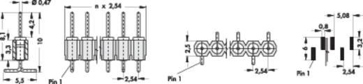 Male header, inbouw (precisie) Aantal rijen: 1 Aantal polen per rij: 20 Fischer Elektronik MK 26 SMD/ 20/G 1 stuks