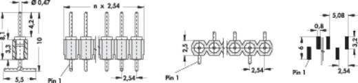 Male header, inbouw (precisie) Aantal rijen: 1 Aantal polen per rij: 20 Fischer Elektronik MK 26 SMD/ 20/Z 1 stuks