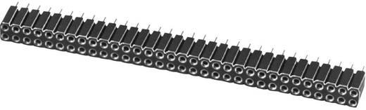 Female connector (precisie) Aantal rijen: 2 Aantal polen per rij: 3 W & P Products 153-006-2-50-00 1 stuks