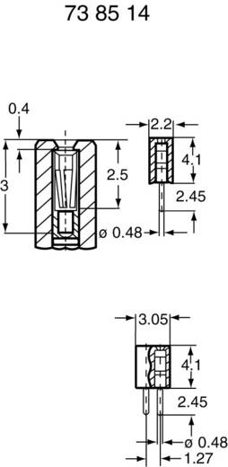 Female connector (standaard) Aantal rijen: 1 Aantal polen per rij: 10 BKL Electronic 10120600 1 stuks