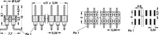 Male header, inbouw (precisie) Aantal rijen: 2 Aantal polen per rij: 20 Fischer Elektronik MK 226 SMD/ 40/G 1 stuks