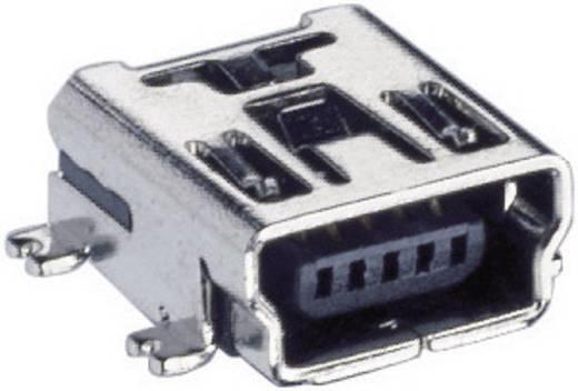 Lumberg 2486 01 USB-2.0-stekker Mini-inbouwkoppeling type B, afgerond, SMT Bus, inbouw horizontaal 1 stuks