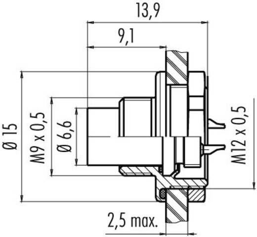 Subminiatuur ronde stekker serie 712 Aantal polen: 4 Flensstekker 3 A 09-0411-00-04 Binder 1 stuks