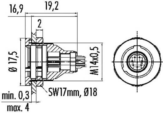 Subminiatuur ronde stekker serie 430 Aantal polen: 3 Flensdoos 3 A 09-4908-015-03 Binder 1 stuks