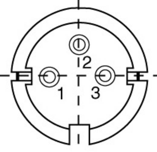Miniatuur ronde stekker-apparaatdoos Aantal polen: 3 Kabeldoos 5 A 99-2006-00-03 Binder 1 stuks