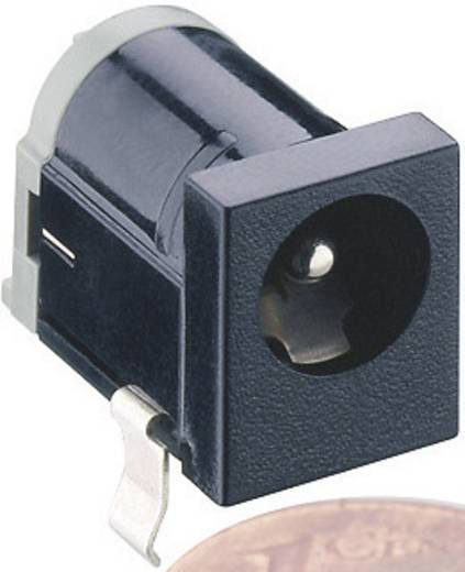 Lumberg 1613 18 Laagspannings-connector Soort schakelcontact: Opener Bus, inbouw horizontaal 6.3 mm 2 mm 1 stuks