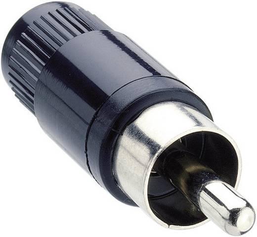 Lumberg STO 1 Cinch-connector Stekker, recht Aantal polen: 2 Zwart 1 stuks