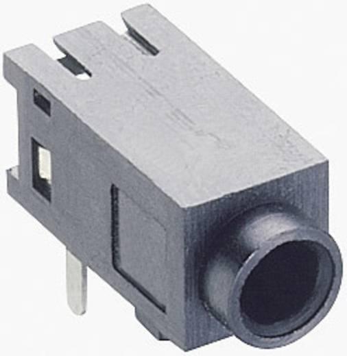 Lumberg 1501 05 Jackplug 2.5 mm Bus, inbouw horizontaal Aantal polen: 3 Stereo Zwart 1 stuks