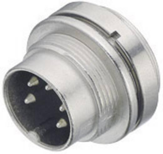 Miniatuur ronde stekker serie 723 Aantal polen: 3 DIN Flensstekker 7 A 09-0107-00-03 Binder 1 stuks