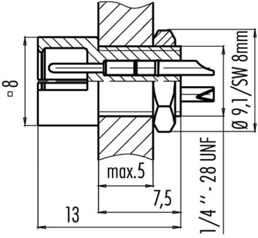Subminiatuur ronde stekker serie 719 Flensstekker Binder 09-9791-30-05 IP40 Aantal polen: 5