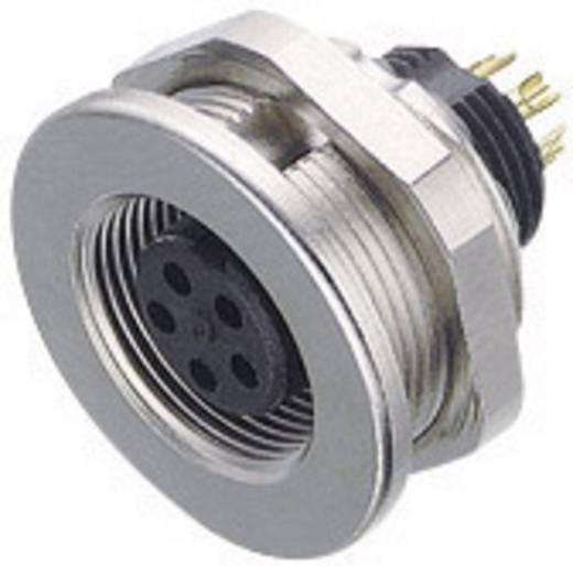 Ronde subminiatuurconnector serie 712 Aantal polen: 4 Flensdoos 3 A 09-0412-00-04 Binder 1 stuks
