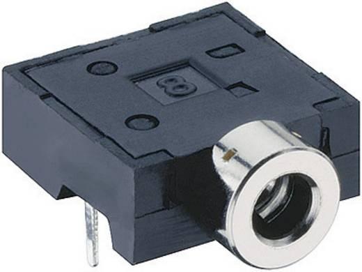 Lumberg 1501 06 Jackplug 2.5 mm Bus, inbouw horizontaal Aantal polen: 3 Stereo Zwart 1 stuks