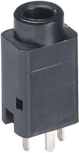 Lumberg 1502 01 Jackplug 3.5 mm Bus, inbouw verticaal Aantal polen: 3 Stereo Zwart 1 stuks