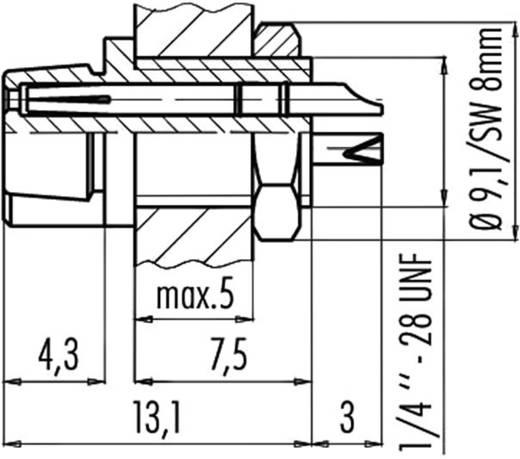 Subminiatuur ronde stekker serie 719 Flensdoos Binder 09-9750-30-03 IP40 Aantal polen: 3