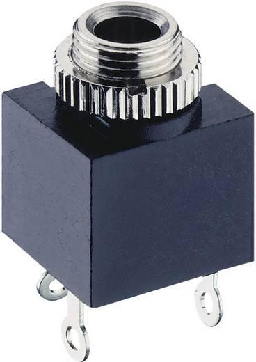 Lumberg 1502 03 Jackplug 3.5 mm Bus, inbouw verticaal Aantal polen: 2 Mono Zwart 1 stuks