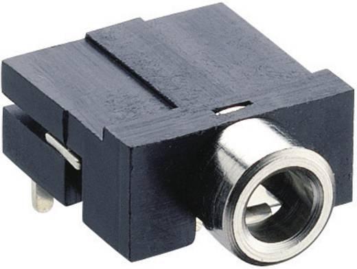 Lumberg KLBR 4 Jackplug 3.5 mm Bus, inbouw horizontaal Aantal polen: 3 Stereo Zwart 1 stuks