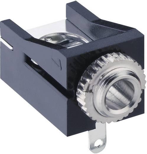 Lumberg 1503 12 Jackplug 3.5 mm Bus, inbouw horizontaal Aantal polen: 2 Mono Zwart 1 stuks