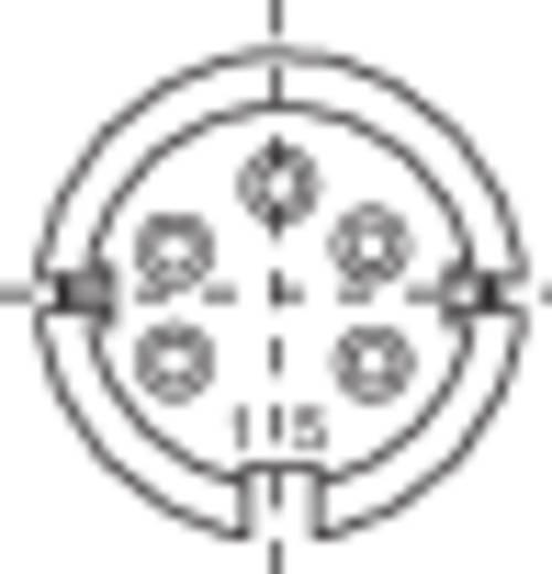 Miniatuur ronde stekker-apparaatdoos Kabeldoos Binder 99-2014-00-05 IP40 Aantal polen: 5