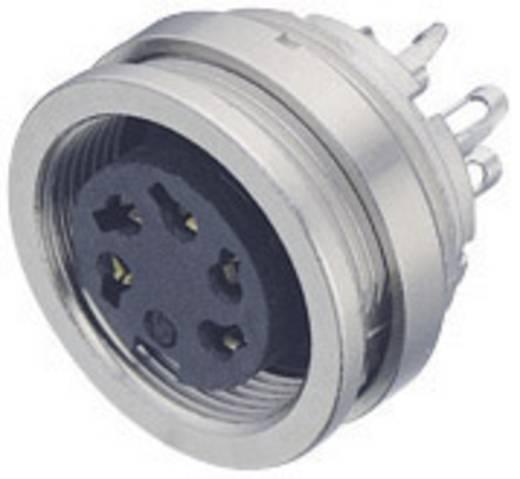 Miniatuur ronde stekker serie 723 Flensdoos Binder 09-0108-00-03 IP67 Aantal polen: 3 DIN