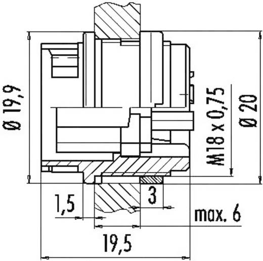 Miniatuur ronde stekker serie 678 Aantal polen: 8 Flensstekker 5 A 99-0648-00-08 Binder 1 stuks