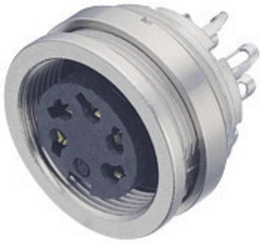 Miniatuur ronde stekker serie 723 Flensdoos Binder 09-0124-00-06 IP67 Aantal polen: 6 DIN