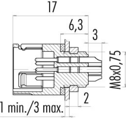 Subminiatuur ronde stekker serie 620 Aantal polen: 4 Flensstekker 2.5 A 99-9211-00-04 Binder 1 stuks