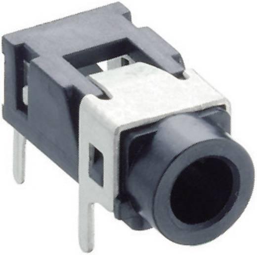 Lumberg 1503 08 Jackplug 3.5 mm Bus, inbouw horizontaal Aantal polen: 3 Stereo Zwart 1 stuks