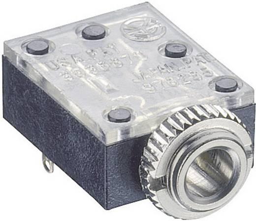 Lumberg 1503 09 Jackplug 3.5 mm Bus, inbouw horizontaal Aantal polen: 3 Stereo Zwart 1 stuks