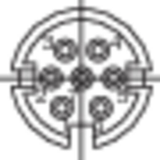 Ronde miniatuur-stekker serie 581 en 680 Aantal polen: 7 Apparaatdoos 09-0328-00-07 Binder 1 stuks