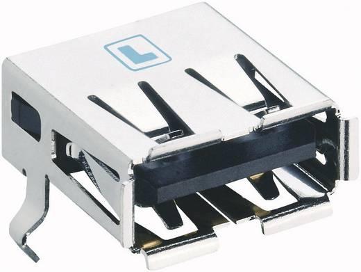 Lumberg 2410 06 USB-2.0-stekker Inbouwkoppeling type A, afgerond, SMT Bus, inbouw horizontaal 1 stuks