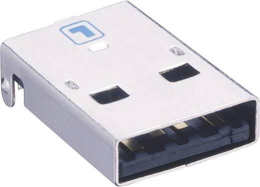 Lumberg 2410 08 USB-2.0-stekker Inbouwstekker type A, afgerond Stekker, inbouw horizontaal 1 stuks