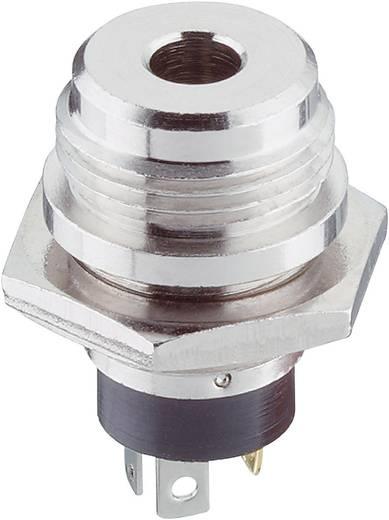 Lumberg 1502 04 Jackplug 3.5 mm Bus, inbouw verticaal Aantal polen: 3 Stereo Zilver 1 stuks