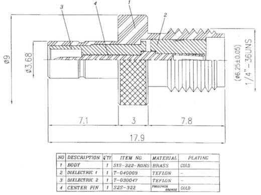 BKL Electronic 0409056 SMB-stekker - SMA-adapter SMA-bus 1 stuks