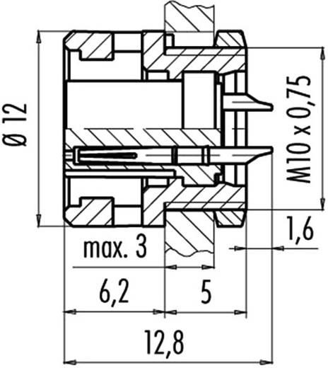 Subminiatuur ronde stekker serie 710 Aantal polen: 5 Flensstekker 3 A 09-0998-00-05 Binder 1 stuks