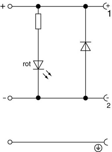Hirschmann GDML 2011 LED 24 HH Kabeldoos met elektronica-element Transparant Aantal polen:2 + PE Inhoud: 1 stuks