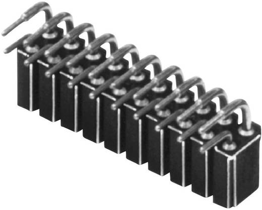 Female connector (precisie) Aantal rijen: 2 Aantal polen per rij: 10 W & P Products 154-020-2-50-00 1 stuks