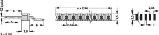 Male header (standaard) Aantal rijen: 1 Aantal polen per rij: 20 Fischer Elektronik SL 12 SMD 058/ 20/Z 1 stuks