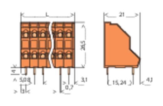 Dubbeldeksklem 2.50 mm² Aantal polen 12 736-306 WAGO Oranje 1 stuks