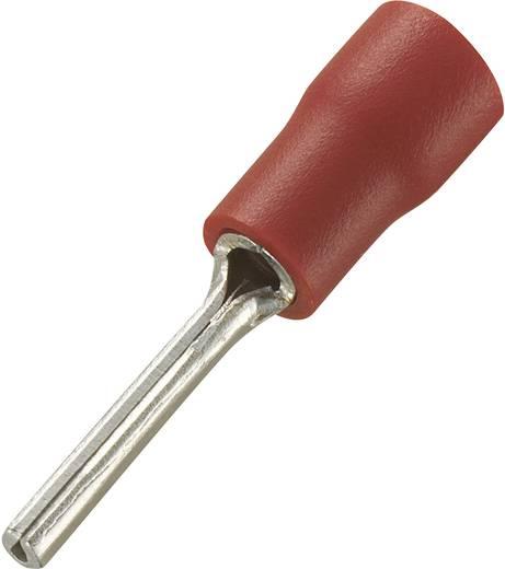 Conrad Components 739176 Stiftkabelschoen 0.5 mm² 1.5 mm² Deels geïsoleerd Rood 100 stuks