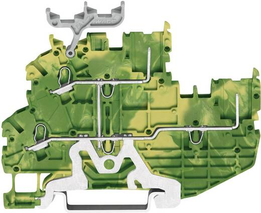 Basisklem 3.50 mm Veerklem Toewijzing: Terre Groen-geel WAGO 2020-2207 1 stuks