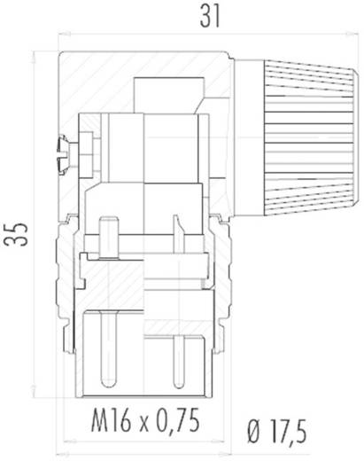 Ronde miniatuurstekker serie 682 Kabelsteker Binder 09-0139-70-05 IP40 Aantal polen: 5