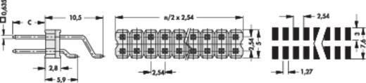 Male header (standaard) Aantal rijen: 2 Aantal polen per rij: 20 Fischer Elektronik SL 17 SMD 058/ 40/G 1 stuks