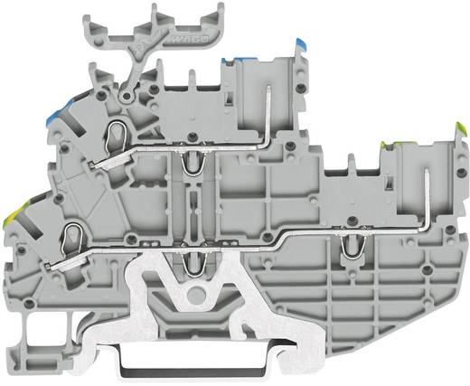 Basisklem 2-etages 3.50 mm Veerklem Toewijzing: Terre, N Grijs WAGO 2020-2247 1 stuks