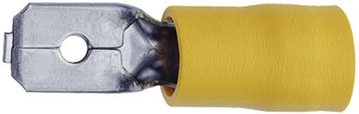 Klauke 850 Vlakstekker (plat) Insteekbreedte: 6.3 mm Insteekdikte: 0.8 mm 180 ° Deels geïsoleerd Geel 1 stuks