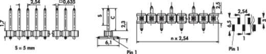 Male header (standaard) Aantal rijen: 1 Aantal polen per rij: 20 Fischer Elektronik SL LP 5 SMD 051/ 20/Z 1 stuks