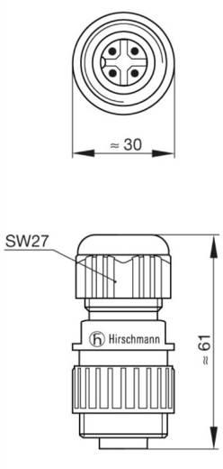 Netspanningsconnectoren voor de CA-serie Nominale stroom (details): 16 A/AC/10 A/DC Aantal polen: 3 + PE 934 124-100 Hirschmann 1 stuks